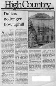 Dollars no longer flow uphill