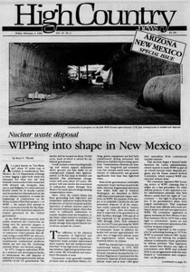 WIPPing into shape in New Mexico