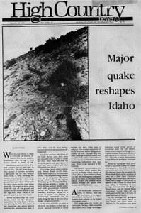 Major quake reshapes Idaho