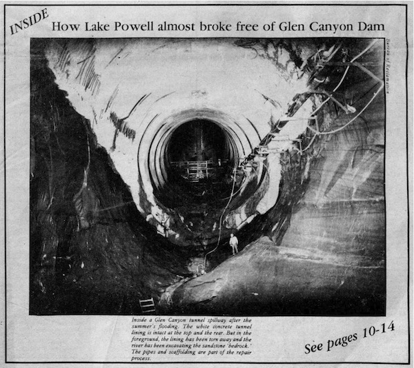 How Lake Powell almost broke free of Glen Canyon Dam