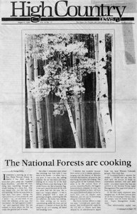 The national forests are cooking
