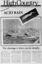 Acid rain: The damage it does can be deadly