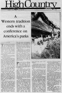 A Western tradition ends with a conference on America's parks