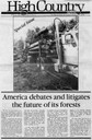 America debates and litigates the future of its forests