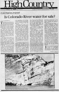 Is Colorado River water for sale?