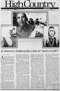 Is America's Indian policy that of 'starve or sell'?