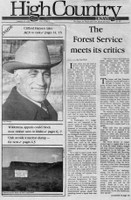 The Forest Service meets its critics