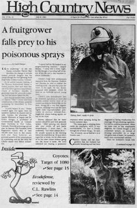 A fruitgrower falls prey to his poisonous sprays