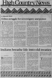 Tribes struggle for sovereignty and power