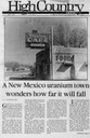 A New Mexico uranium town wonders how far it will fall