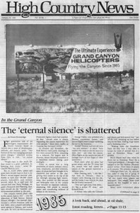 The 'eternal silence' is shattered