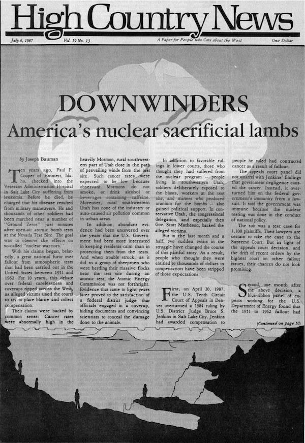 Downwinders: America's nuclear sacrificial lambs