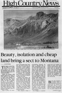 Beauty, isolation and cheap land bring a sect to Montana