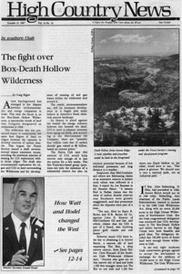 The fight over Box-Death Hollow Wilderness