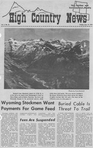 Wyoming stockmen want payments for game feed