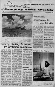 1970: Grizzly hunting protested by Wyoming sportsmen