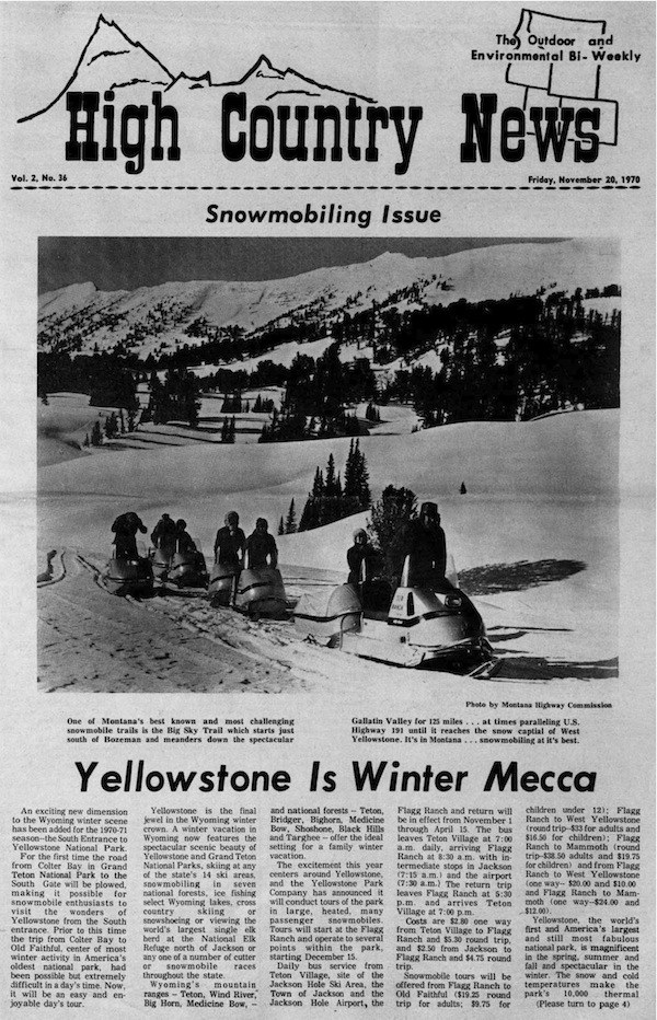Yellowstone is winter Mecca
