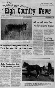 More money for Yellowstone Park