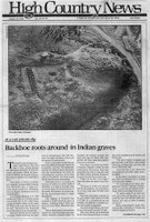 Backhoe roots around in Indian graves