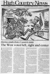 The West voted left, right and center