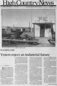 In southern Utah: Voters reject an industrial future