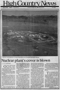 Nuclear plant's cover is blown