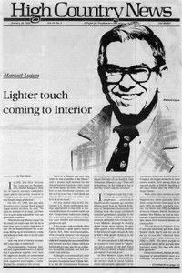 Manuel Lujan: Lighter touch coming to Interior