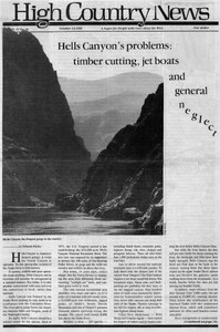 In Hells Canyon's: timber cutting, jet boats and general neglect
