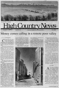 Money comes calling in a remote poor valley