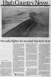 Nevada fights its second nuclear war