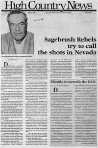 Sagebrush Rebels try to call the shots in Nevada