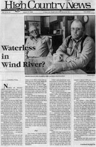 Waterless in Wind River?