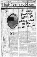 How a Montana reporter wrote what he saw ... and lost his job