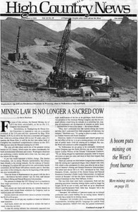 Mining law is no longer a sacred cow