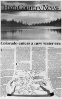 Colorado enters a new water era