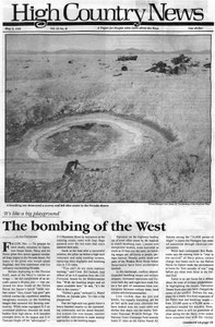 The bombing of the West