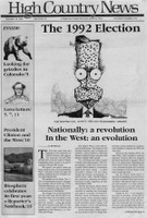 The 1992 Election: Nationally a revolution, in the West an evolution