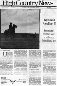 Sagebrush Rebellion II: Some rural counties seek to influence federal land use
