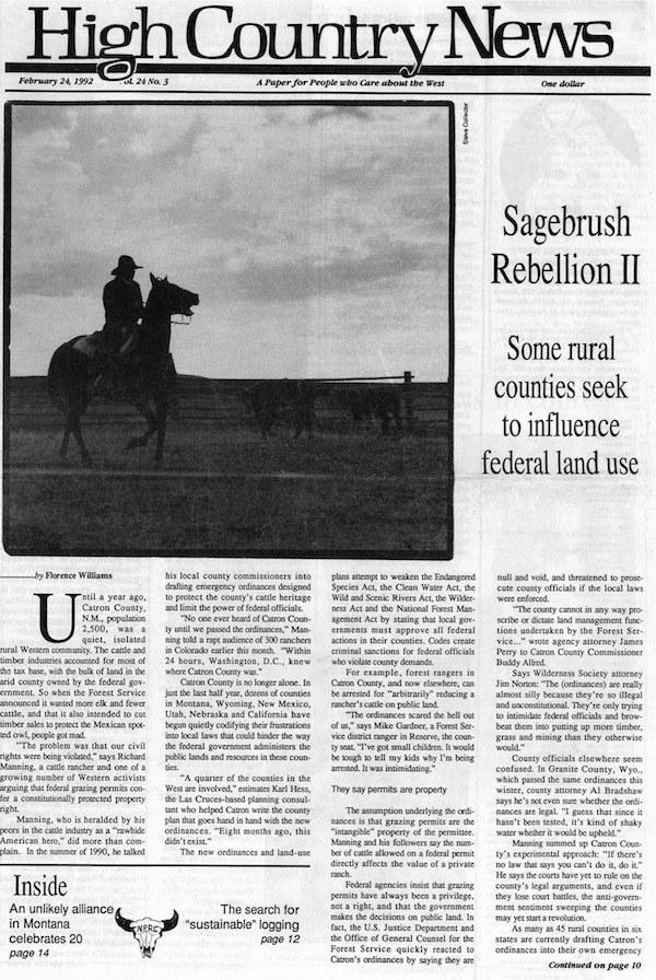 the sagebrush rebellion essay