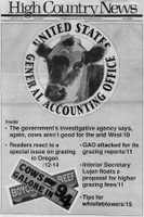 The government's investigative agency says, again, cows aren't good for the arid West