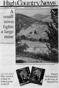 A small town fights a large mine