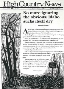 No more ignoring the obvious: Idaho sucks itself dry