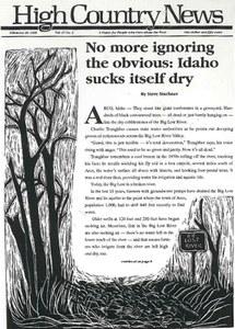 No more ignoring the obvious: Idaho sucks itself dry