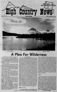 A plea for wilderness