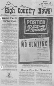 Game herds threatened