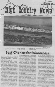 Last chance for wilderness