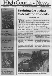 Draining the budget to desalt the Colorado
