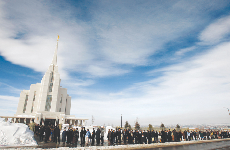 Christ of Latter-day Saints temple last February in Rexburg, Idaho,