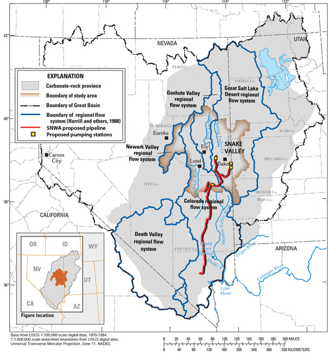 Vegas Forges Ahead On Pipeline Plan High Country News - Great-basin-on-us-map