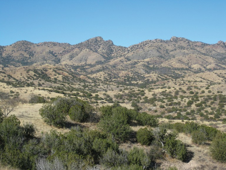 The Santa Rita Mountains near Tucson, site of the proposed Rosemont mine